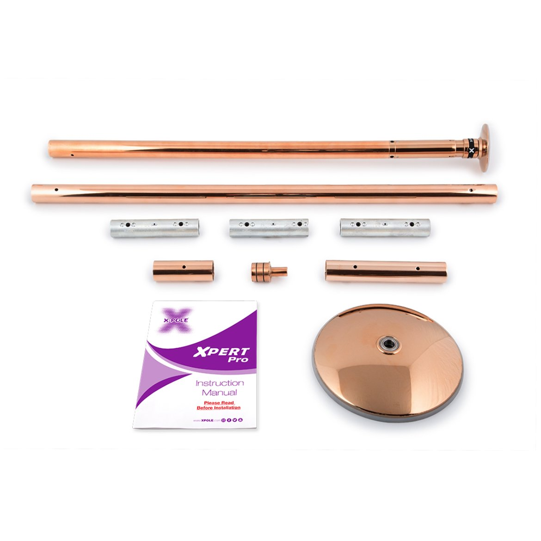 Poledance Tanzstange Standard Set Xpert Pro Messing