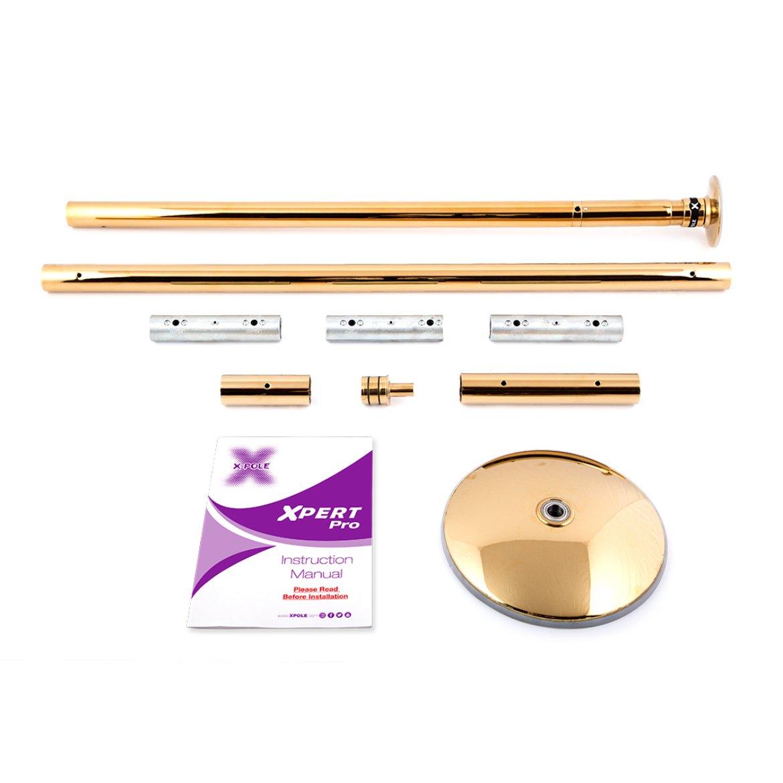 Poledance Tanzstange Standard Set Xpert Pro Titanium Gold